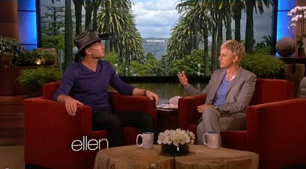 Tim McGraw on Ellen