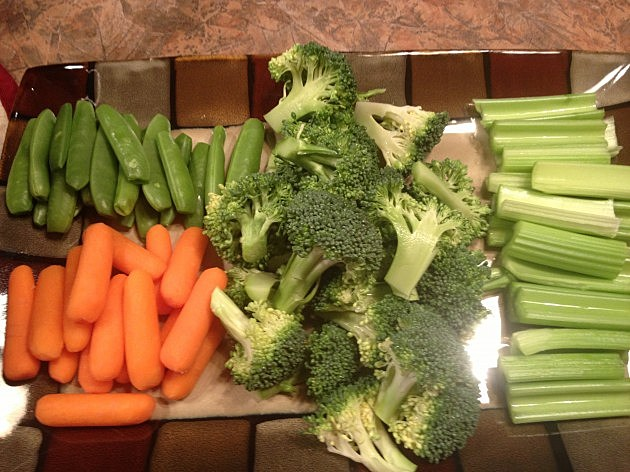 Sugar Snap Peas, Carrots, Broccoli, and Celery