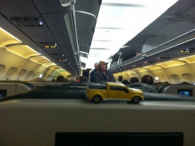 zander car on plane