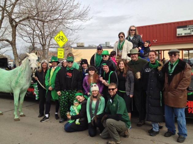Town Square Media Staff in FC St Patrick's Day Parade