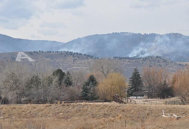 Galena Fire behind Horsetooth Reservoir