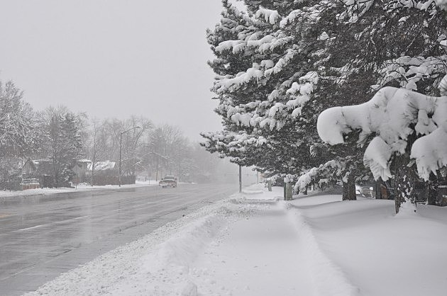 A Snowy Prospect Road in Fort Collins