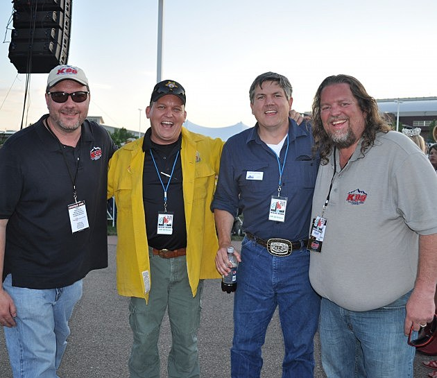 Brian & Todd with Larimer County Sheriff Justin Smith and County Commissioner Tom Donnelly