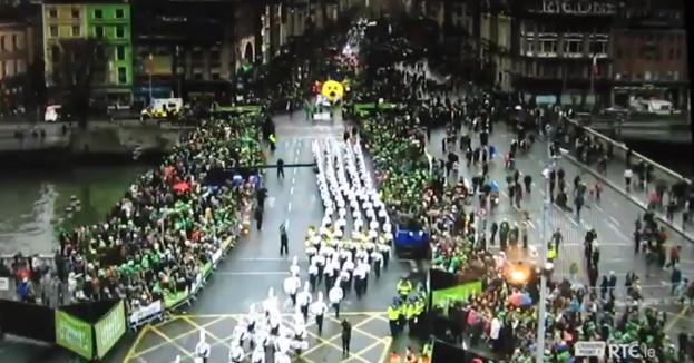 CSU Marching Band in Dublin, Ireland for St Patrick's Day Parade