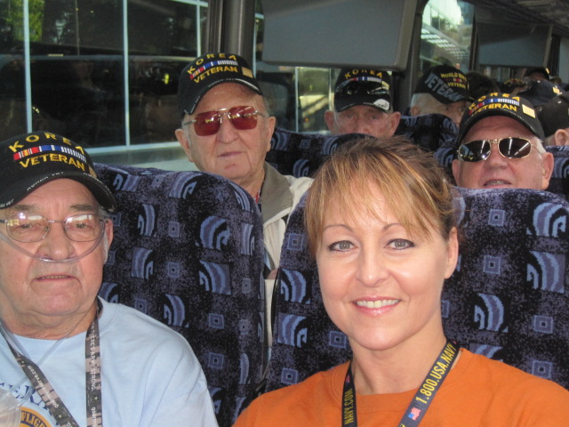 Lana Naibauer on Honor Flight with Albert M  and Norris S