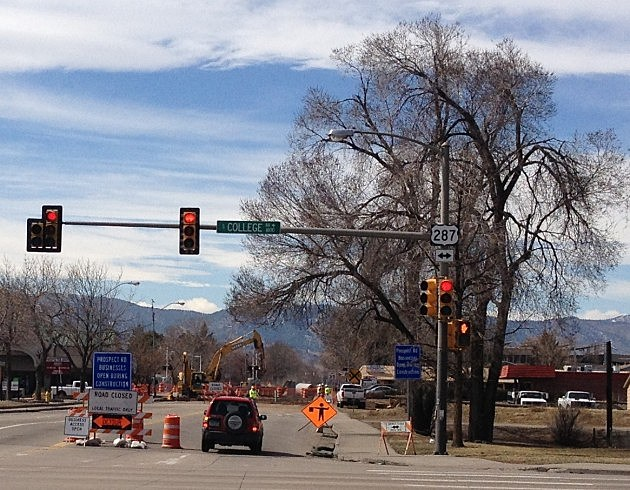 Construction at Prospect & College in Fort Collins