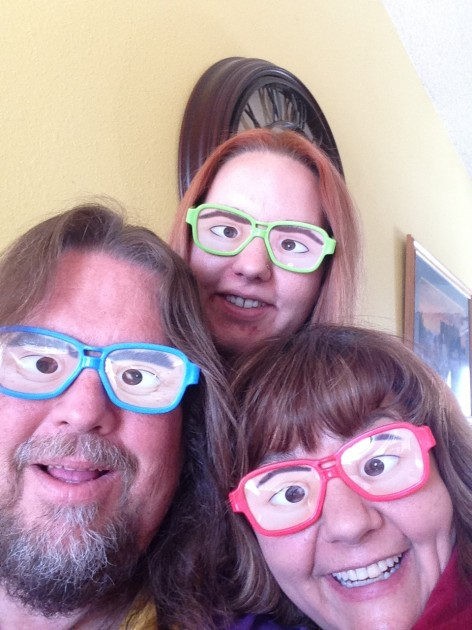 funny glasses whole family