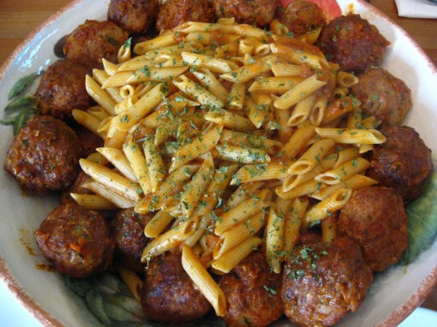 Taste of Home meatballs and penne