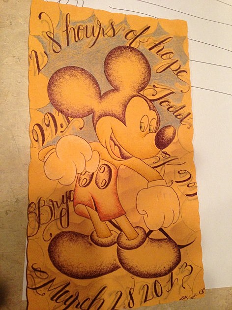 28 hours micky drawing