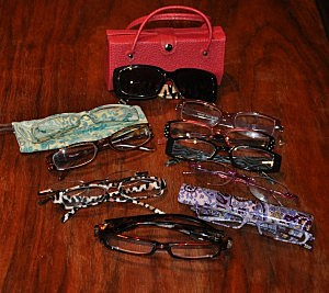 Assorted Goggles (Reading Glasses) owned by Todd's Wife Jenny