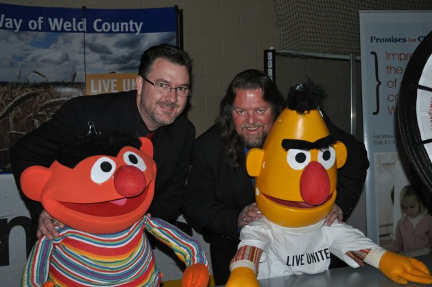 Brian & Todd with Ernie & Bert at United Way Auction 2013