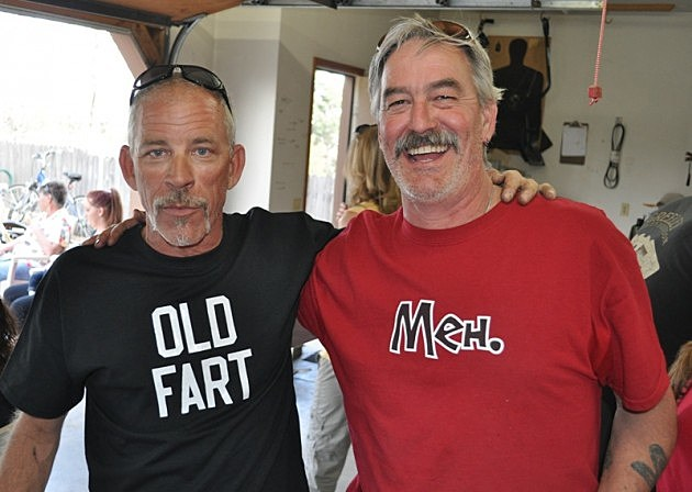 Charley in his Old Fart T-Shirt and Rebel J