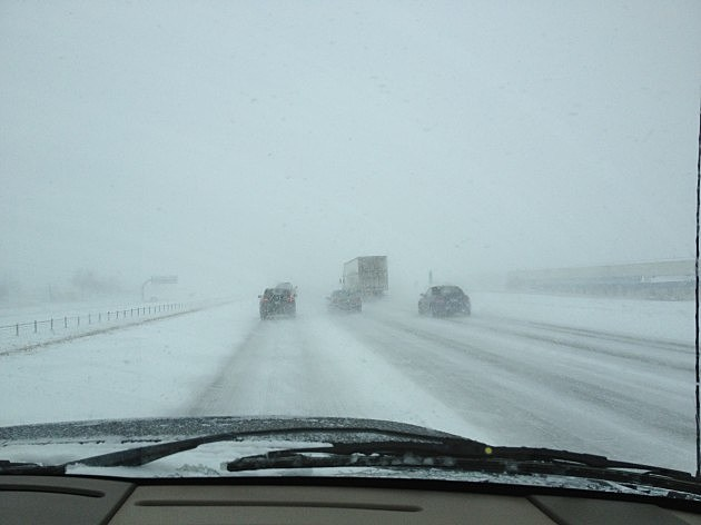 Blizzard Driving