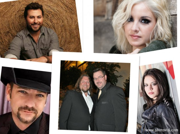 Brian & Todd with Rachel Farley, Tyler Farr, Maggie Rose and Craig Campbell.