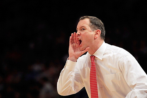 Head coach Mike Rice of the Rutgers Scarlet Knights
