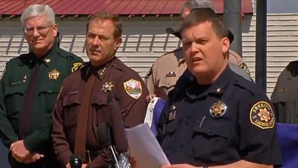 Sheriffs stage protest including Larimer County Sheriff Justin Smith