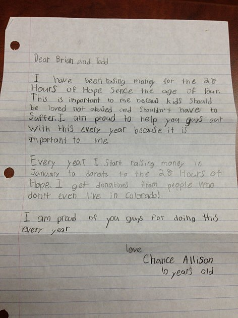 chance letter