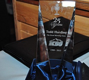 Award Presented to Todd for 25 Year Anniversary