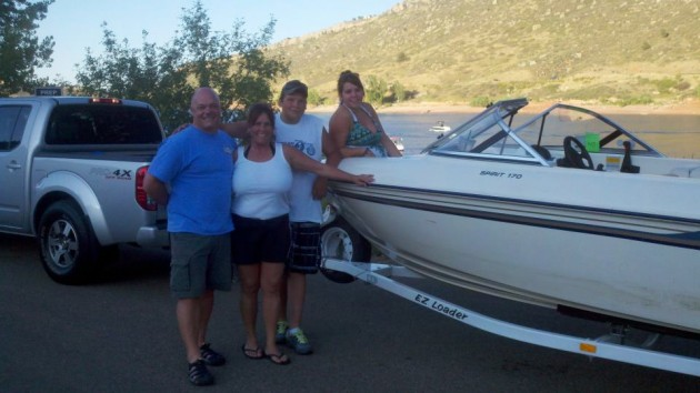 Boating at Horsetooth