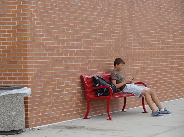 First Student to Enjoy the Bench