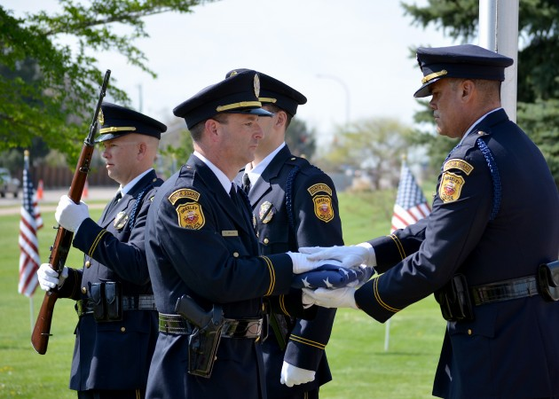 Folding Flag at Weld County Peace Officer Memorial