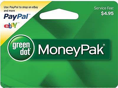 GreenDot MoneyPak Card