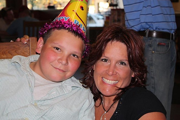 Mommy and Colton Face Forward 13th Birthday