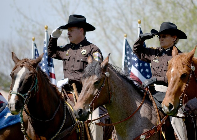 Weld County Sheriff's Posse Salute
