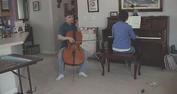 Seth Johnston playing Cello
