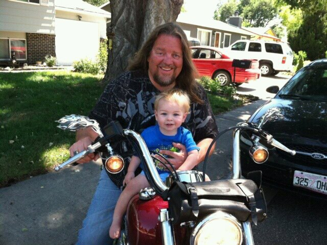 Zander on Harley