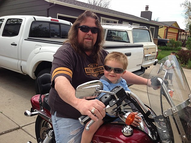 zander's first harley ride
