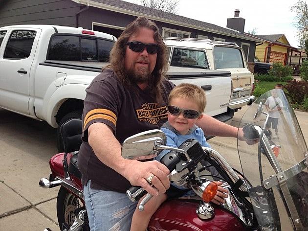 zander's first harley ride