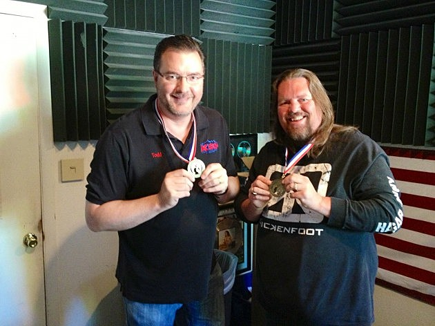 Brian and Todd with stampede medals