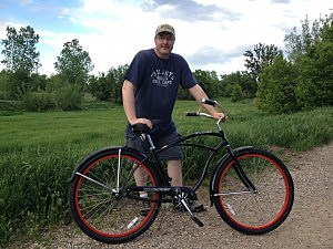 Me with my new bike