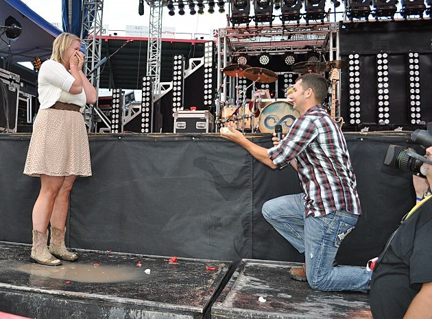 Nathan Gets on one knee to ask Emily to marry him at Cheyenne Frontier Days