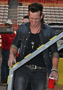 Keifer Thompson of Thompson Square takes the stage at Cheyenne Frontier Days