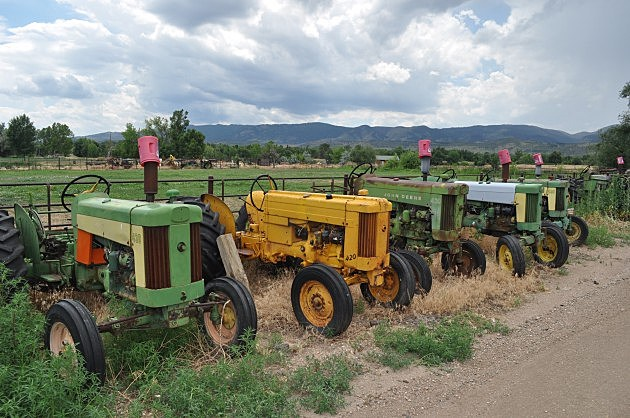 Antique Tractors owned by Fort Collins resident Bill Seaworth