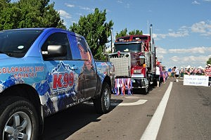 K99 Truck & Float in Greeley Stampede Parade, July 4th, 2013