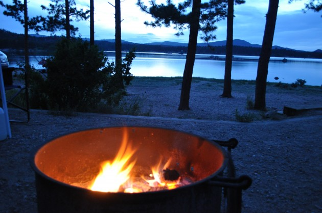 Campfire at Dowdy Lake, CO
