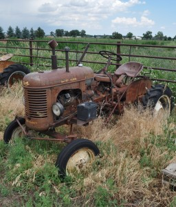 Antique Tractor owned by Fort Collins resident Bill Seaworth