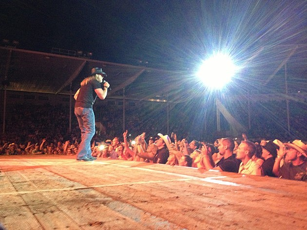 Trace Adkins in the spotlight at the Greeley Stampede