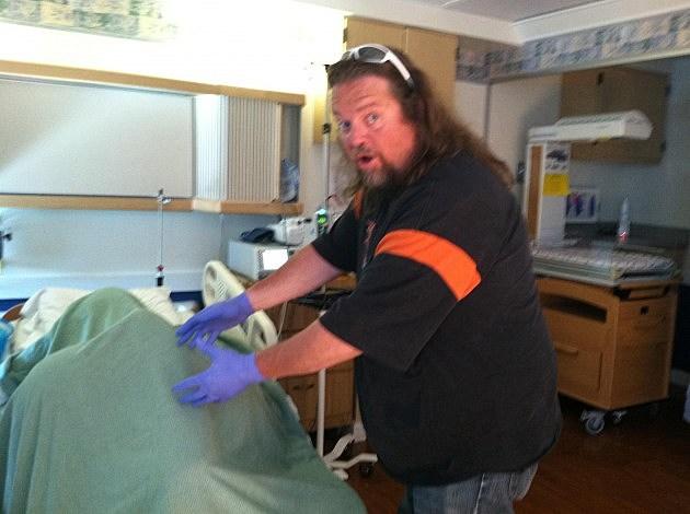 Brian Helping At Hospital