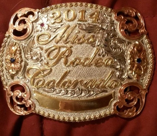 Miss Rodeo Colorado Buckle