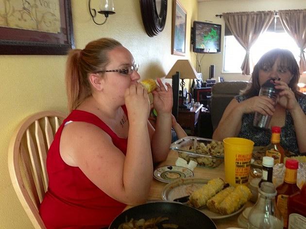 Vanessa Eating Corn