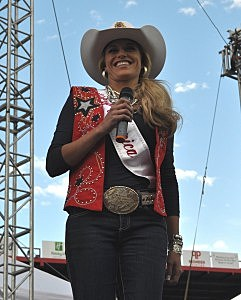 Miss Rodeo America Chenae Shiner at Cheyenne Frontier Days