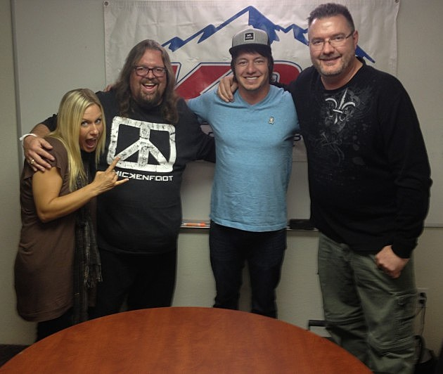 Brian & Todd with American Young, who visited K99 on Monday, August 19th, 2013