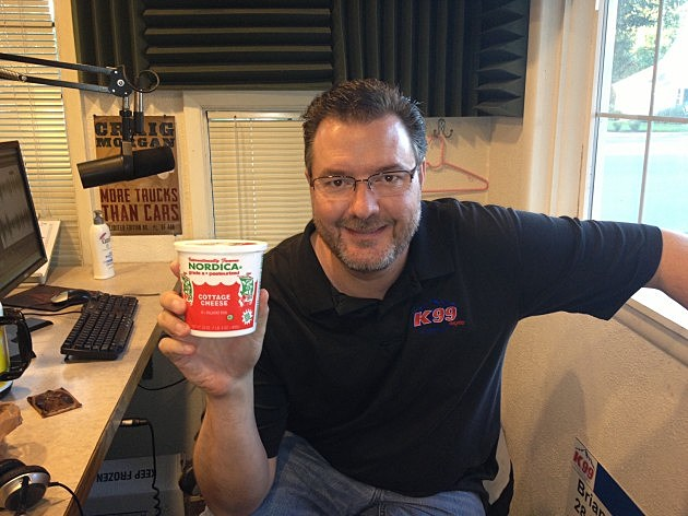 Todd with Cottage Cheese Container