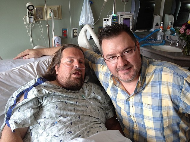 Todd visited Brian yesterday at North Colorado Medical Center in Greeley