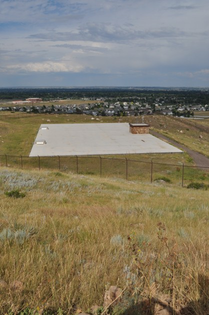 Fenced in Area behind Hughes Stadium in West Fort Collins