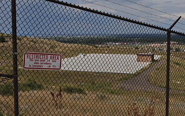 Sign on Fenced in Area behind Hughes Stadium in West Fort Collins